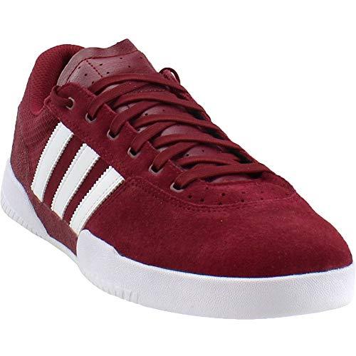 Adidas City Cup - Zapatillas de Patinaje para Hombre, Collegiate Burgundy/Footwear White/Footwear White, 10.5 M US
