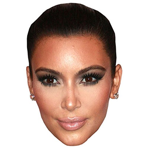 Kim Kardashian Celebrity Mask, Cardboard Face and Fancy Dress (Celebrities Costumes)