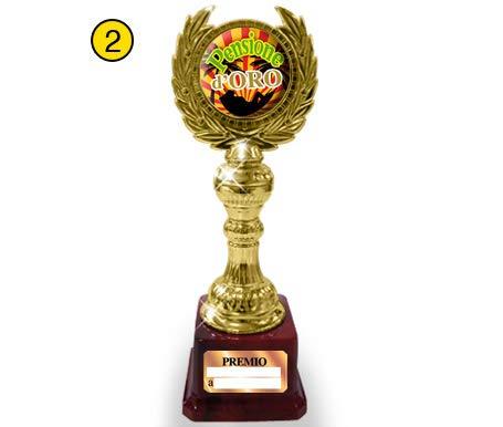 Dream' s Party COPPA ALLORO Pensione D'oro - idea regalo gadget scherzo per festa di PENSIONE - premio premiazione per la PENSIONATA o il PENSIONATO Dream' s Party