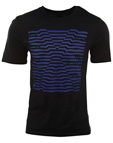 Jordan Crew Hals T-skjorte Menns Svart / Lilla