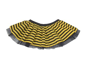 Bumble Bee Stripe Tutu Skirt Black Yellow One Size: Amazon.co.uk ...