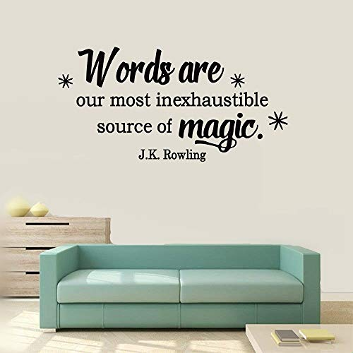 yangar Wall Art Decor Decals Removable Mural Words are Our Most Inexhaustible Source of Magic for Living Room Kids Room Study Room Play Room Baby Room (Magic Tree House Dinosaurs Before Dark Musical)
