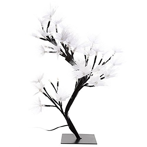 Briday 2W Slow Flash LED Colorful Desk Top Fiber Optic Blossom Tree Light Decoration Lamp with 56 LEDs