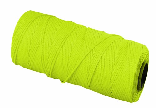 Bon 11-878 18 No.1000-Feet EZC Bricklayers Braided Nylon Line, Neon Yellow by bon