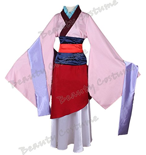 Beauty Costume Chinese Heroine Hua Mulan Dress Halloween Outfit (Disney Mulan Halloween Costume)