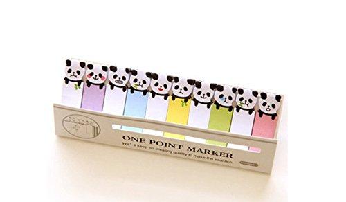 Mini Sticky Notepad (Funny Animals Sticker Post-it Bookmark Mini Marker Memo Flag Index Tab Sticky Notes Stickers (Panda))