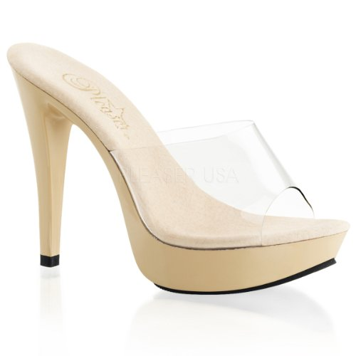 Cream Cocktail Platform 7 Uk 501 Sexy Heel Clr 5 1 Slide Shoes nW1gUW