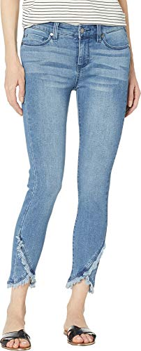 Liverpool Women's Abby Crop Skinny Front Scallop Hem Jeans in Eco-Friendly Denim in Ibiza Ibiza 12 26