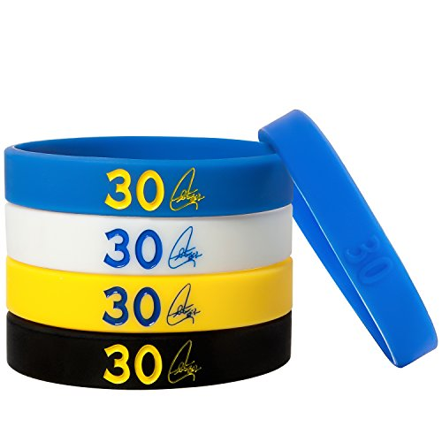 E SELECT Basketball Rubber Silicone Wristbands Bracelet, 5PCS – DiZiSports Store