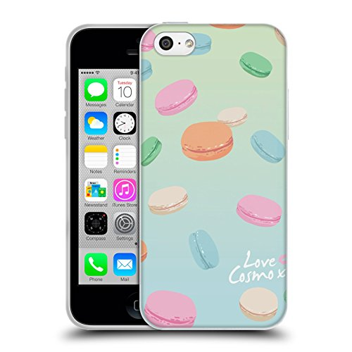 Official Cosmopolitan Macaroons Pastels Soft Gel Case for Apple iPhone 5c