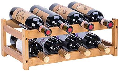 Amazon Com Riipoo Wine Rack Countertop Wine Racks Shelf Wine Bottle Holder For Pantry Cabinet Bar Refrigerator 2 Tier Kitchen Dining