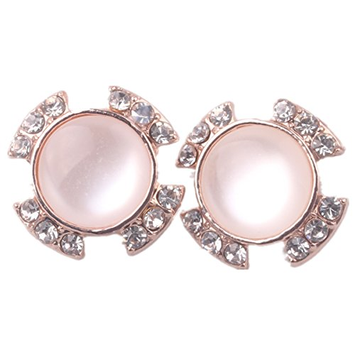Milk Opal (DEEMEI Bridal Diamond Gold Plated Earrings No Earrings Earrings (Milk white))