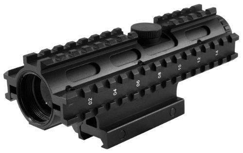 NcStar 4X32 Compact Scope-3 Rail Sighting System with Mil-Dot Weaver Mount (Blue) (SC3RSM432B)