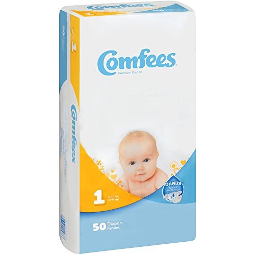 Comfees CMF-1 Disposable Baby Diapers-Size 1-200/Case by Com
