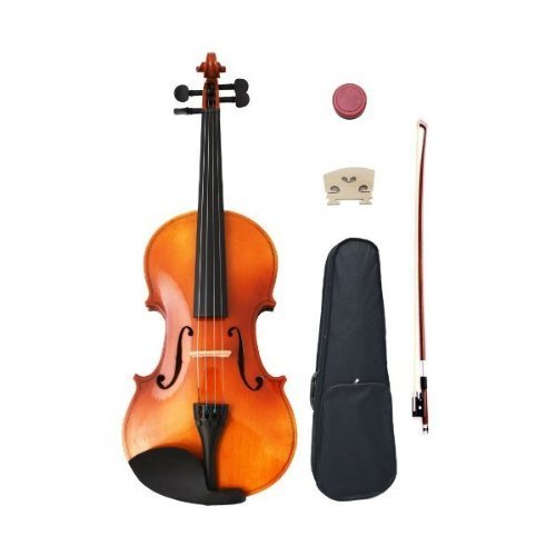 Crescent 1/2 Size Student Violin Starter Kit (Includes CrescentTM Digital E-Tuner) by Crescent