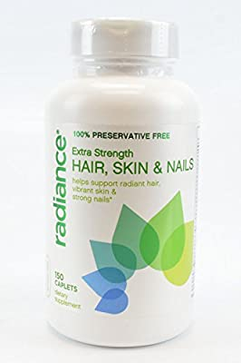 Radiance 100% Preservative Free Extra Strength Hair, Skin & Nails Helps Support Radiant Hair, Vibrant Skin & Strong Nails 150 Caplets Dietary Supplement