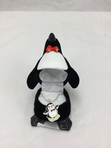 PENGUIN Crystal Necklace in Penguin Gift Box by DM (Image #1)
