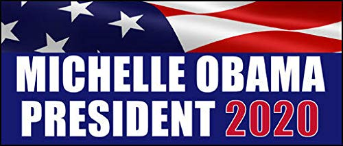 MAGNET 3x7 inch MICHELLE OBAMA President 2020 Bumper Sticker (first lady for 20 love) Magnetic vinyl bumper sticker sticks to any metal fridge, car, signs