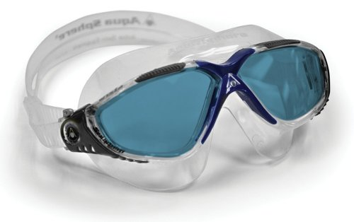 Aqua Sphere Vista Swim Mask Goggles, Blue Lens Lens, - Swimming Goggles With Lenses