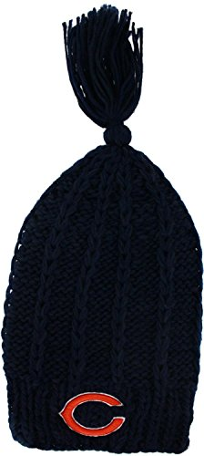 NFL New Era Chicago Bears Ladies Winter Slouch Knit Hat - Navy Blue