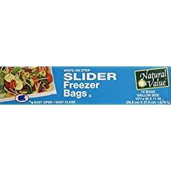 Natural Value Slider Freezer Bags, 10 count