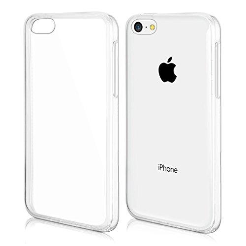 kwmobile Funda para Apple iPhone 5C - Carcasa Protectora de [TPU] para móvil - Cover [Trasero] en [Transparente]