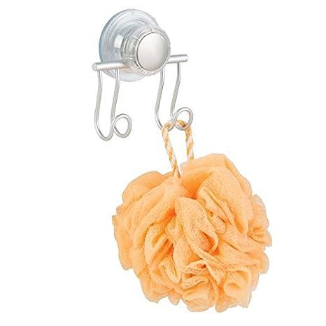 mDesign Ganchos con ventosa para ducha y baño – Práctico organizador de ducha para cuchillas,