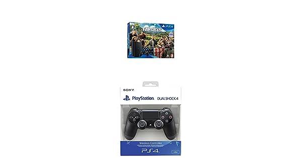 Playstation 4 (PS4) - Consola de 1 TB + Far Cry 5 + Dualshock 4 V2 Mando Inalámbrico, Color Negro V2 (PS4): Amazon.es: Videojuegos