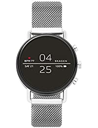 Connected Falster 2 Stainless Steel Magnetic Mesh Touchscreen Smartwatch, Color: Silver (Model: SKT5102)