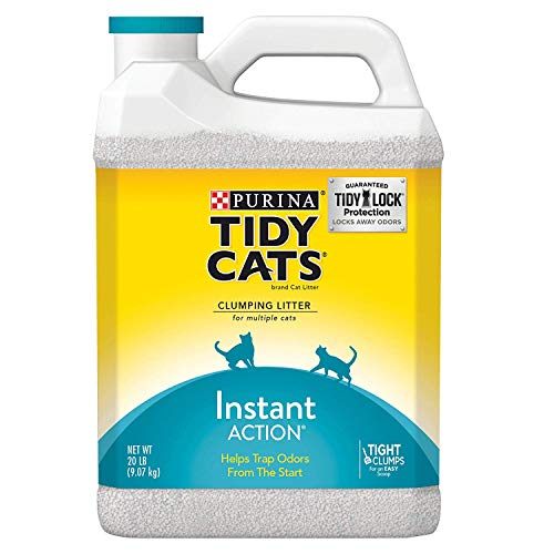 Purina Tidy Cats Clumping Cat Litter; Instant Action Multi Cat Litter - 20 lb. Jug (Pack of 2) (4 Case (Pack of 2)) ()