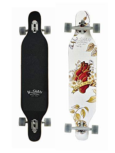 WiiSHAM Professional Speed Drop Down Complete Longboard Skateboard(42 Inches) (15)