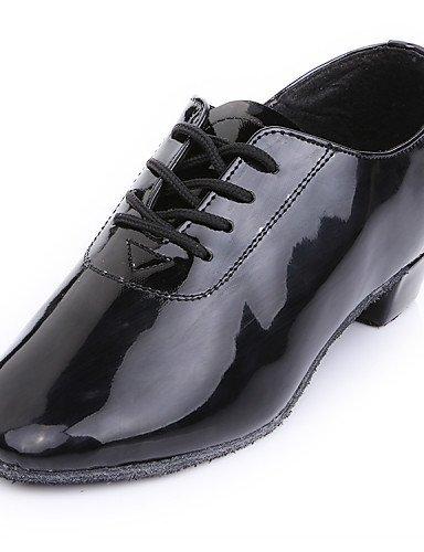 ShangYi Men's/Kids' Dance Shoes Belly/Latin/Dance Sneakers/Modern/Flamenco/Samba Leatherette Flat Heel Black Black DBBFV
