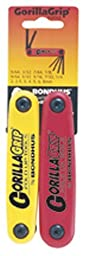 Bondhus 12522 GorillaGrip Hex Fold-up Double Pack, 12587 (2-8mm) & 12589 (5/64-1/4-Inch)