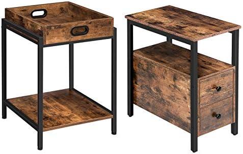 HOOBRO End Table and Side Table Bundle
