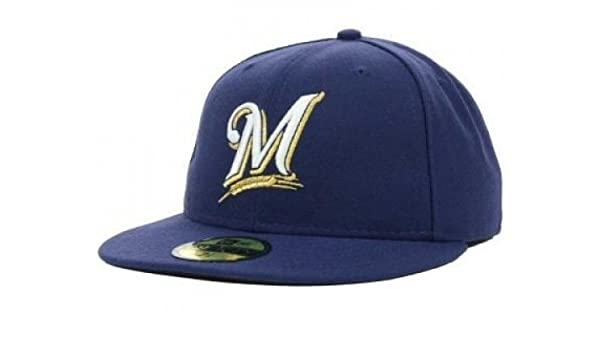 size 40 9fe56 546d5 Amazon.com   New Era Milwaukee Brewers MLB Authentic Collection 59FIFTY On Field  Cap NewEra   Clothing