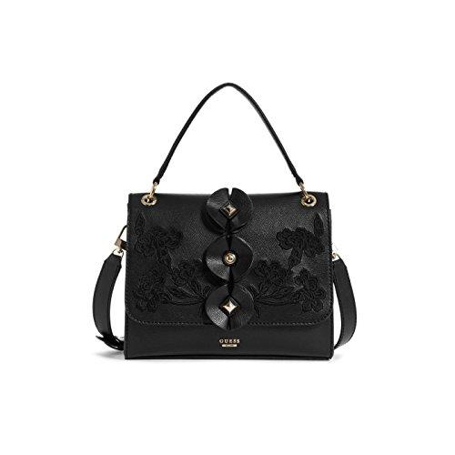 et Eden sac Poudre Petit bandoulière Noir fleurs broderies Noir Guess wIqOY55