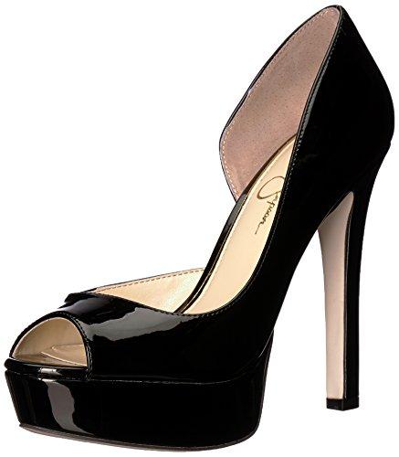 Jessica Simpson Womens Martella Piattaforma Brevetto Nero