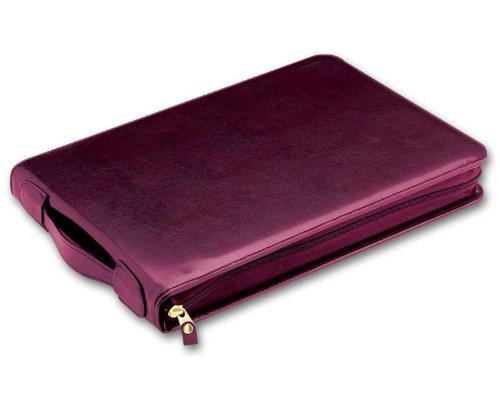 Size 16 x 11 1//2 Burgundy EGP Leather Check Portfolio,The Director