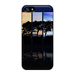 Tpu Case Cover For Iphone 5/5s Strong Protect Case - Tree Spectrum Design