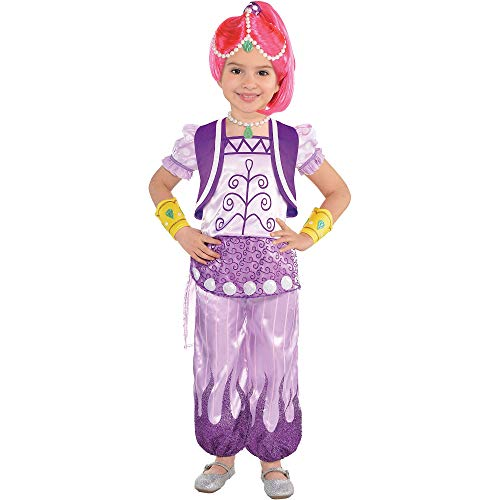 Amscan Shimmer and Shine Halloween Costume for Toddler Girls, Shimmer, 3-4T, with Included Accessories]()
