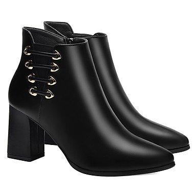 RTRY Zapatos De Mujer Moda Otoño Invierno Sintético Bota Botas Botas Botas De Combate Chunky Talón Stiletto Talón Botines/Botines Por Parte &Amp; US5.5 / EU36 / UK3.5 / CN35