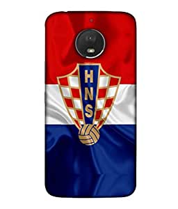 ColorKing Football Croatia 04 Multicolor shell case cover for Motorola Moto E4 Plus