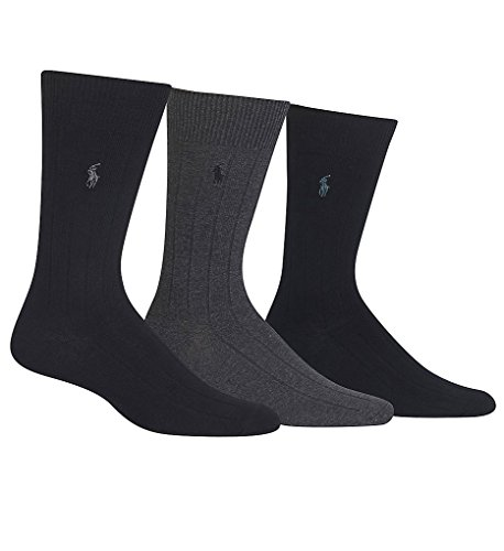 Polo Ralph Lauren Men's 3-Pairs Rib Dress Trouser Socks