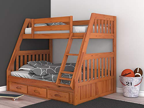 Discovery-World-Furniture-2118-82192-Bunk-Bed-Twin-Over-Full-Honey