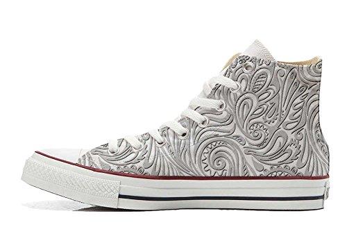 Italien chaussures Unisex et coutume Personnalisé Light Star Paisley artisanal All produit Converse Hi Sneaker Imprimés xw0PYtnz