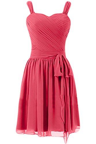 Imitación de Sunvary a-Line vestido fiesta noche fiesta gasa de corazones vestidos de dama Light Watermelon