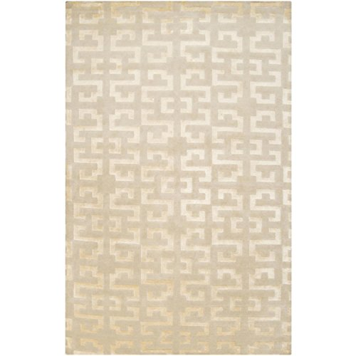 CC Home Furnishings 2' x 3' Antique Dutch Hook Ivory and Parchment Wool Area Throw ()