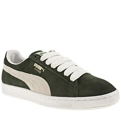 new arrival bd7cd a9fb4 Puma Suede Classic - 7 Uk - Dark Green - Suede: Amazon.co.uk ...