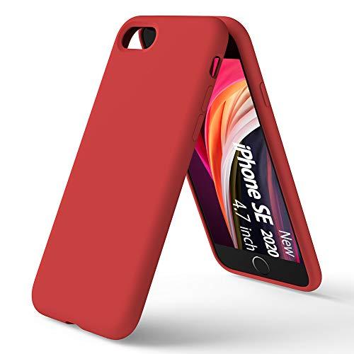 Custodia in Silicone Liquido per iPhone SE(2020), Protezione Rosso ...