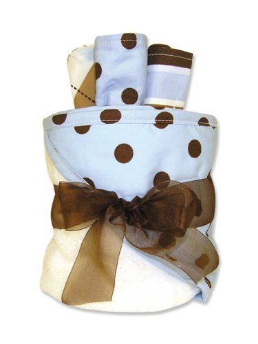 Trend Lab Hooded Towel Gift Cake, Max Dot Color: Max Dot NewBorn, Kid, Child, Childern, Infant, Baby